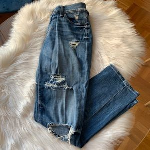Lucky Brand Brooke Crop Ripped Jeans